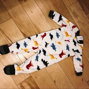 NWT Carter's Boy's 18 M Dinosaur Footed PJ's
